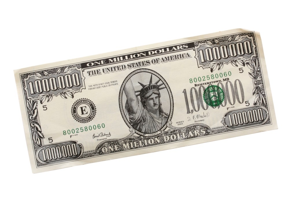 One million dollar bill – all you have to know about it